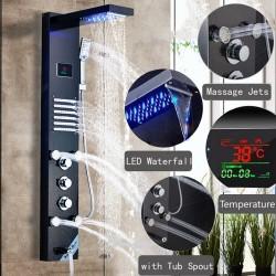 Columna ducha hidromasaje LED
