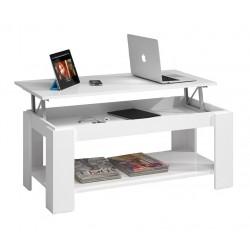 Mesa centro elevable blanco...