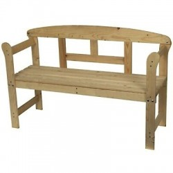 Banco jardín madera