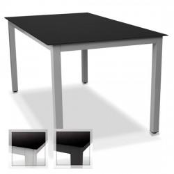 Mesa aluminio y cristal...