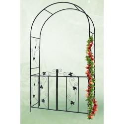 Arco con puerta para jardín