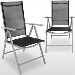 Conjunto 2 o 4 sillas aluminio